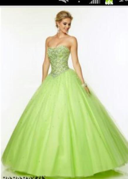 dress green prom dress