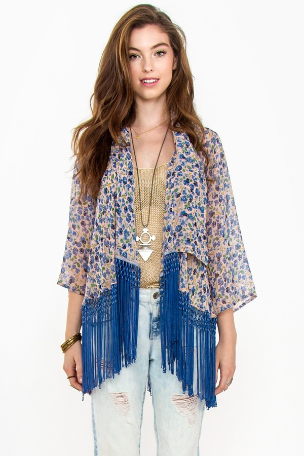 shirt spring hills kimono fringes blue floral flowers graphic tee print makeup table vanity row dress to kill