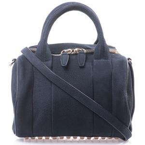 Alexander Wang Navy Rockie Leather Crossbody Bag - Sale