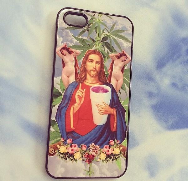 jewels jesus drugs lean iphone case iphone cover floral pink cigar hoodie sweats