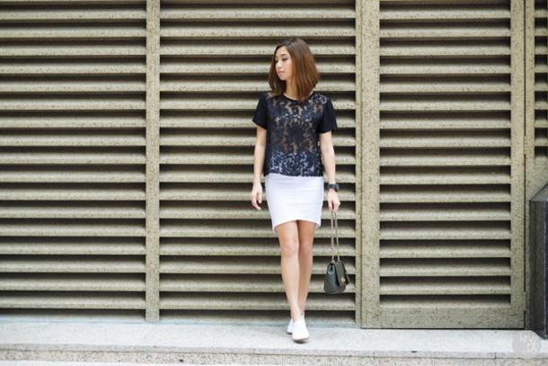 kryzuy blogger white skirt lace top