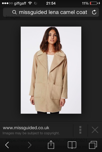 coat misguided lena camel