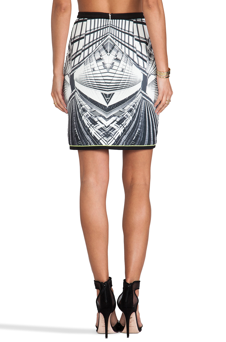 Lumier Next Dimension Skirt in Grey Print | REVOLVE
