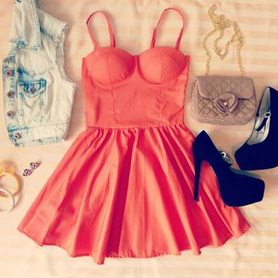 ORANGE UNIQUE FLIRTY BUSTIER DRESS · Humbly Glam · Online Store Powered by Storenvy