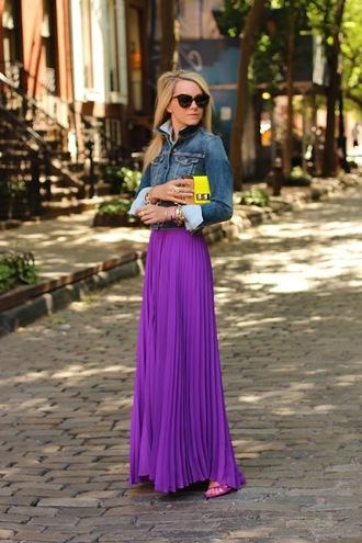 atlantic pacific jacket shirt dress skirt shoes bag sunglasses jewels purple maxi skirt long