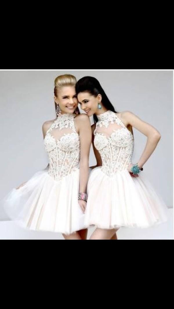 dress lace beaded prom dress