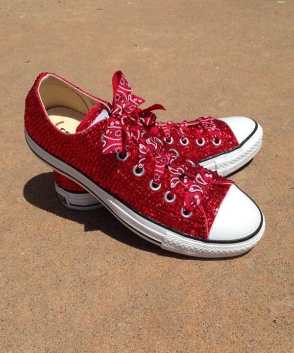 shoes red swarovski