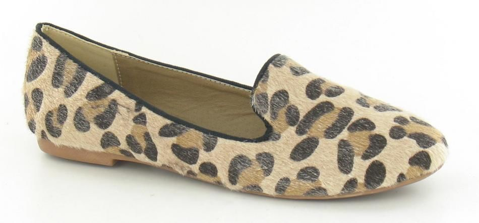 Ladies Tan Leopard Print Loafer Casual 8867 | eBay