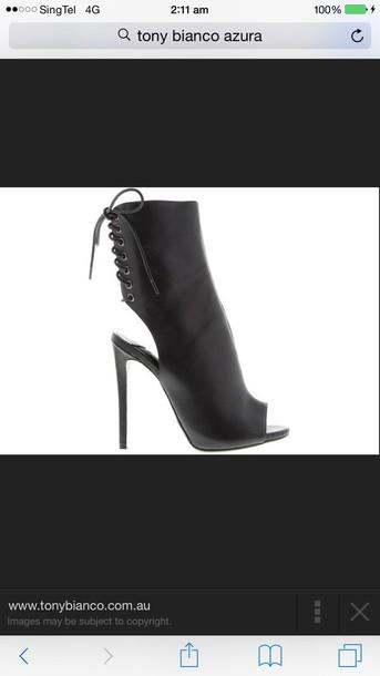 shoes black colour tony bianco. azura heels