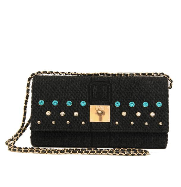 TIROL CLUTCH NEGRO - V73 Bags and Accessories Woman