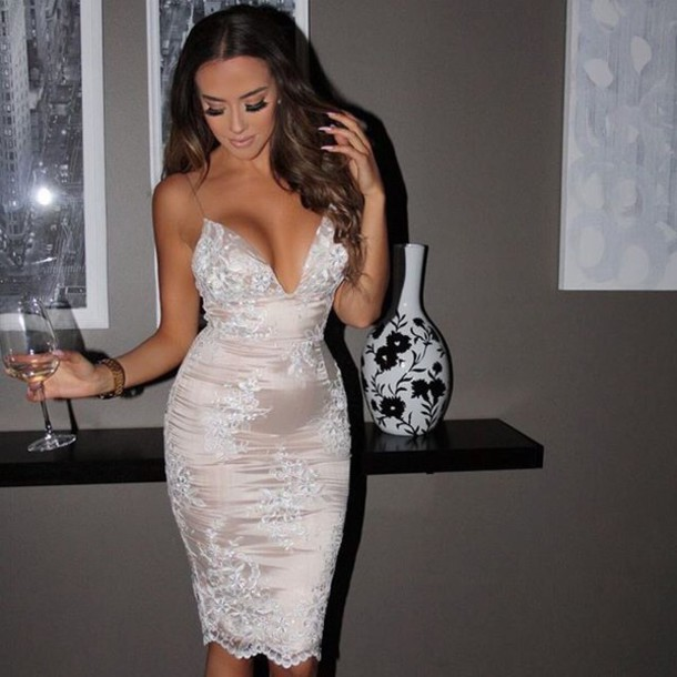 A White Lace Dress, Copy The Look for Day and Night