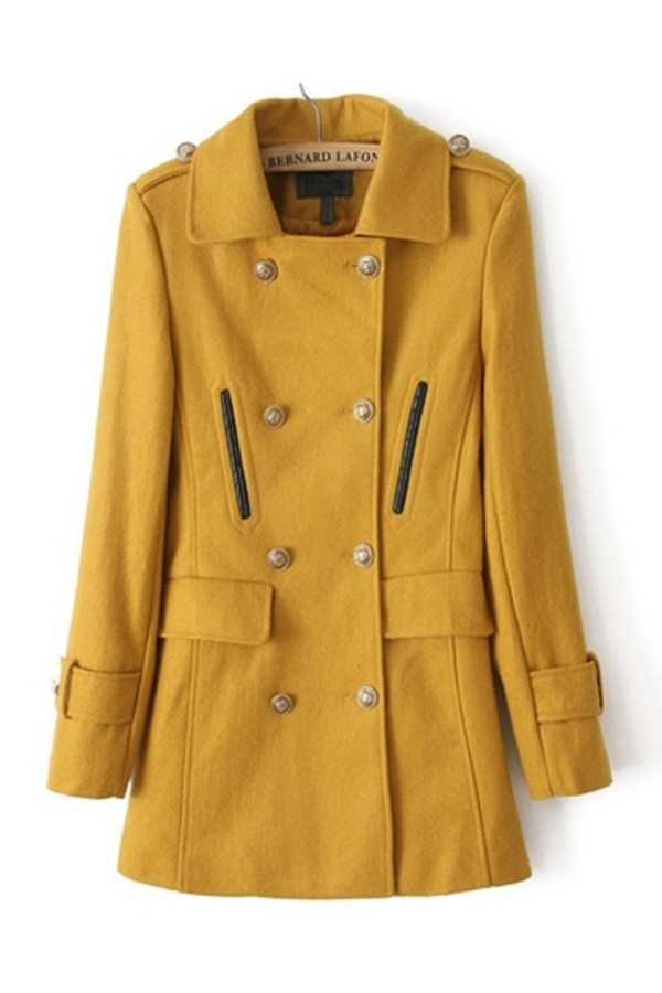 coat persunmall clothes winter coat winter outfits yellow coat
