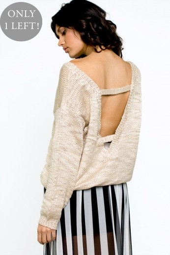 Finders Keepers Bright Lights Knit - Open Back Tops - $80