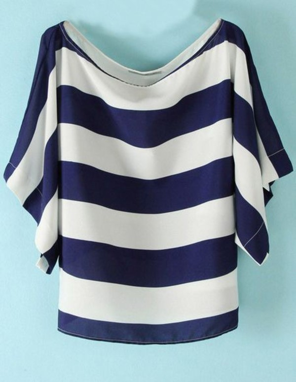 shirt striped shirt women style women fashion new style blouse white blue shirt straps summer outfits t-shirt