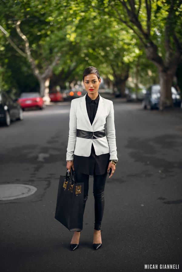 micah gianneli shirt jacket pants jewels bag shoes