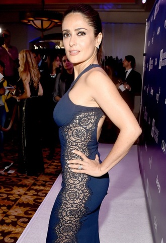 dress salma hayek celebrity style luxury