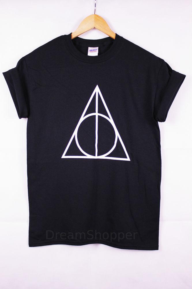 New Unisex Harry Potter Deathly Hallows Printed T-shirt Very Stylish | eBay