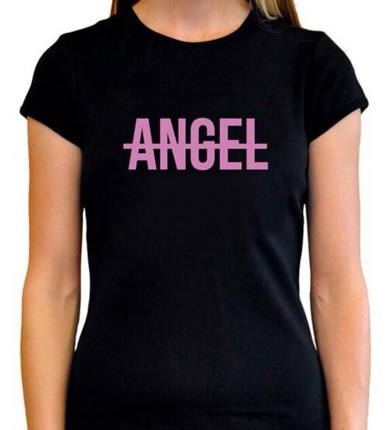 t-shirt short sleeve beyoncé shirt angel black t-shirt