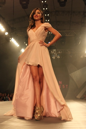 dress miranda kerr rose dress long prom dress prom dress