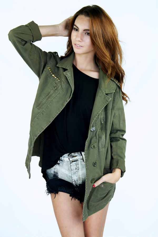 Off Duty Military Jacket : Current Fashion Trends & Styles