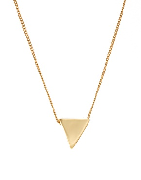 ASOS | ASOS Ditsy Triangle Charm Necklace at ASOS
