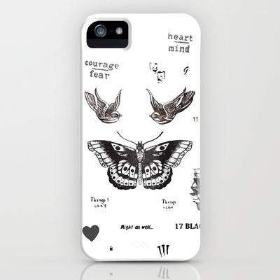 Tattoo à la Harry iPhone & iPod Case by Kate | Society6