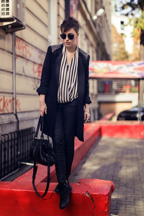 natalie's fashion workshop coat pants bag sunglasses shoes jewels shirt
