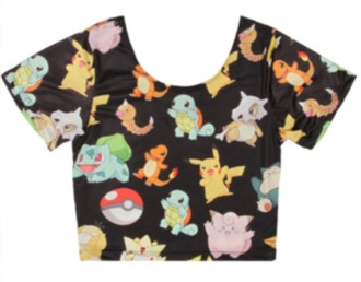 top crop tops pokemon pikachu