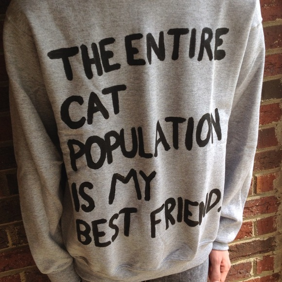 25% off  Sweaters - cat population sweatshirt. from Brooke's closet on Poshmark