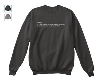 sweater sudadera tumblr quote on it español frase catarsis grey winter outfits fall outfits cool perfect cute fashion black white black and white blanco negro gris