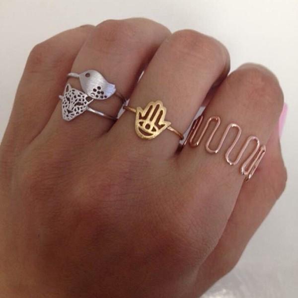 jewels ring chettah birds gold jewelry real