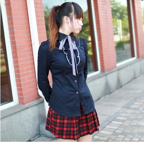 Scottish woolen plaid pleated College Wind wild female bust skirt  free shipping-in Skirts from Apparel & Accessories on Aliexpress.com