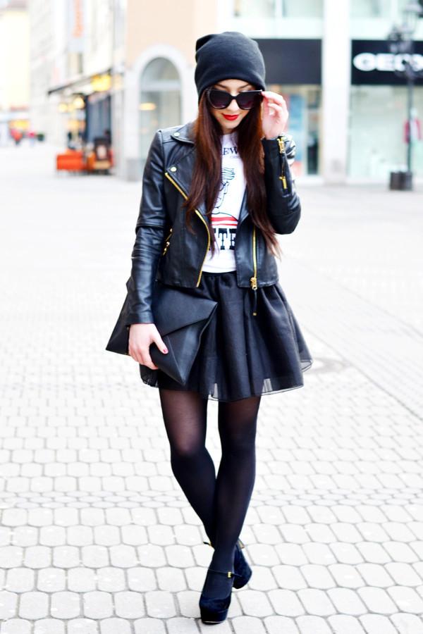 flirting with fashion jacket shirt skirt shoes bag hat sunglasses