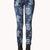 Brocade Floral Skinny Jeans | FOREVER21 - 2061786873