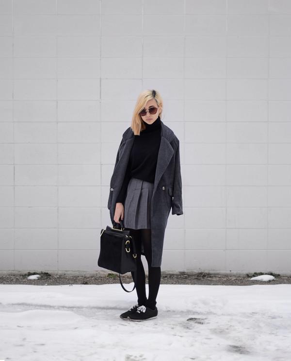 ordinary people sunglasses jacket skirt bag