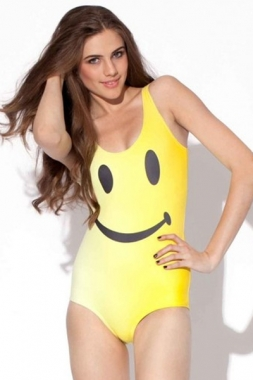 Smiley Face Teddy Swimwear, Wholesale One-piece Swimwear
