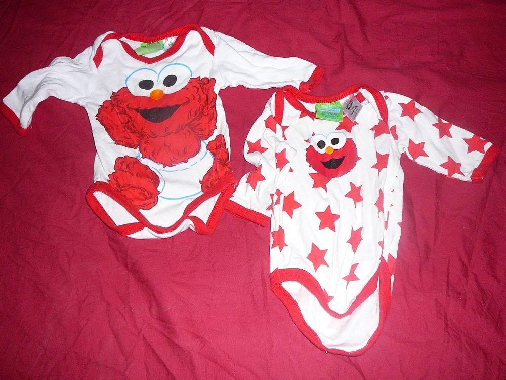 2 X 0000 Baby Elmo Romper   eBay
