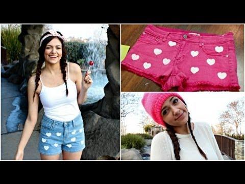 DIY Heart Shorts   Valentine's Day Essentials! - YouTube