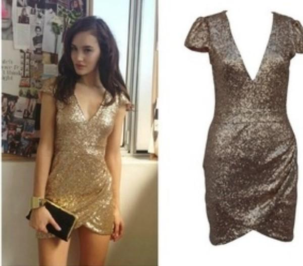 dress gold sequins dress short mini party dress bodycon dress