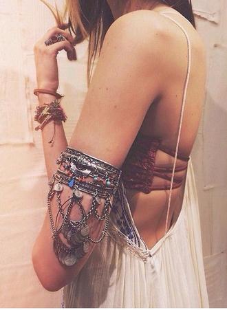 jewels upper arm bracelet gypsy upper arm bracelet bohemian boho hippie bracelets ring blouse underwear statement bracelet upper arm cuff