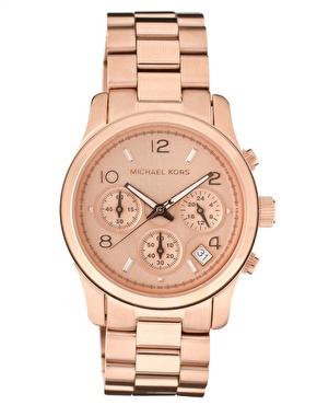 Michael Kors | Michael Kors Runway Rose Gold Chronograph Watch at ASOS