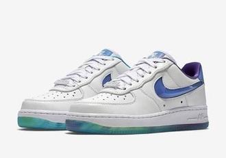 shoes nike nike air force 1 aurora sneakers northern lights white purple nike sneakers