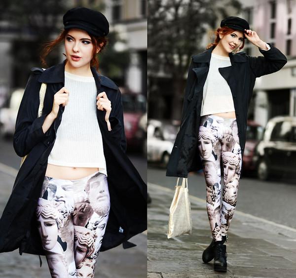 pants leggings faces coat hat fashion stylish streetstyle