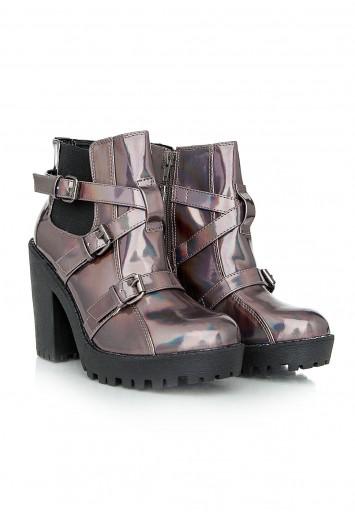 Bonny Hologram Block Heel Ankle Boots - Footwear - Boots - Missguided