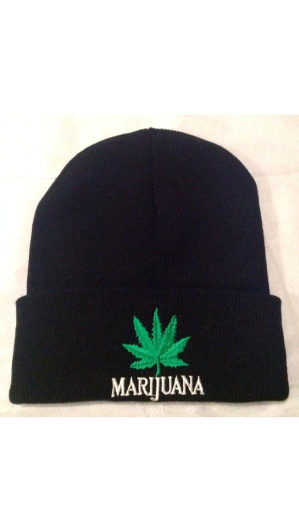 hat marijuana beanie black black hat floppyhat floppy pot leaf black accesories accessories summer fashion 2k14