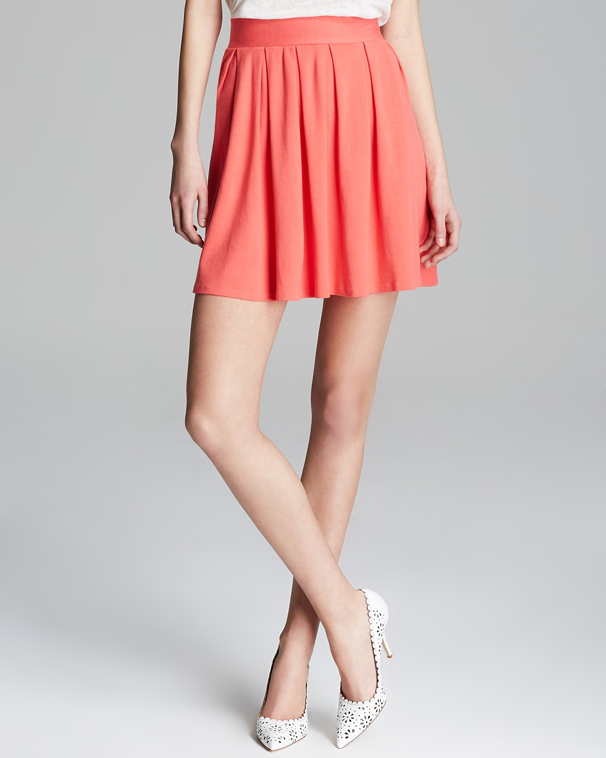 Three Dots Pleated Skirt | Bloomingdale's