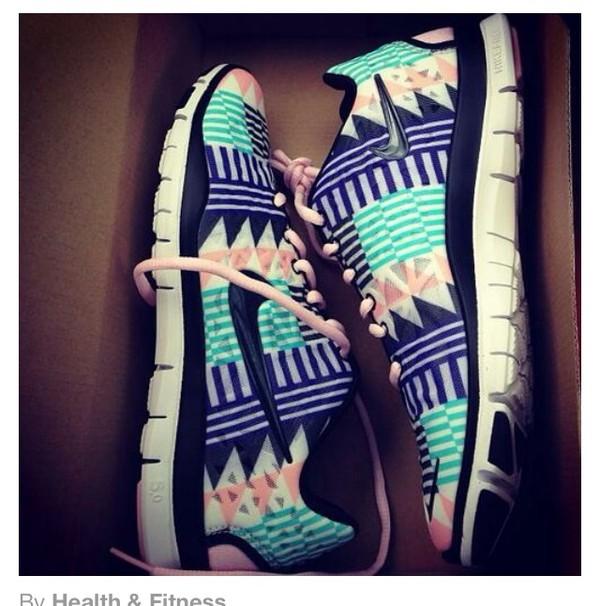 shoes nike nike free run aztec