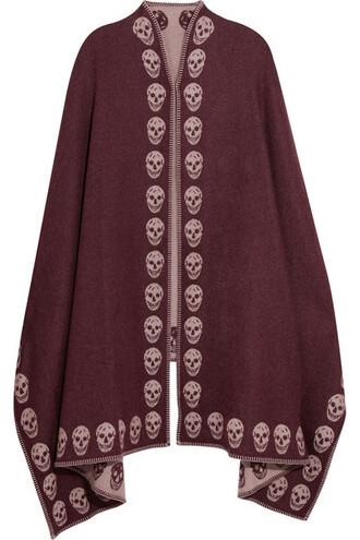 cape burgundy top