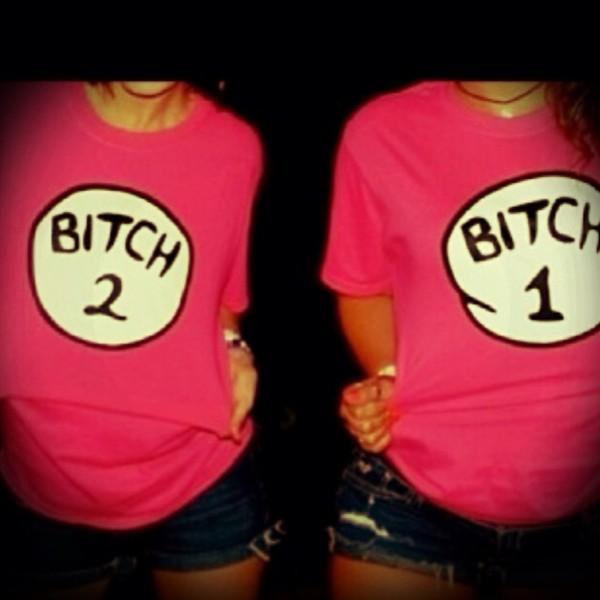shirt bff matching shirts bitch bitch one bitch two bff best bitches matching couples couples shirts pink