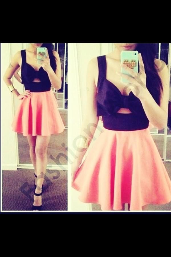 dress pink by victorias secret black